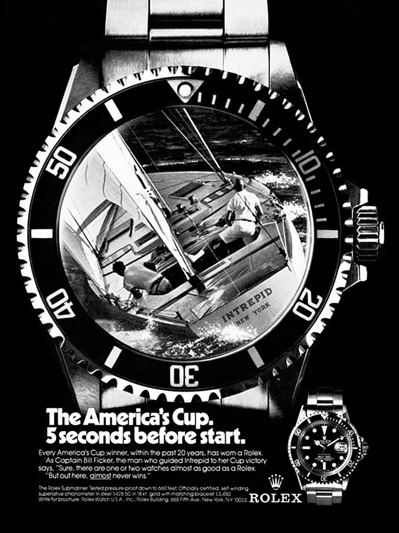 Les montres de l'America's Cup (passé / présent) 1977