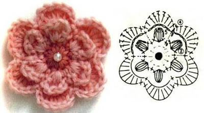 como - como poner una perla en el centro de una flor a crochet 40