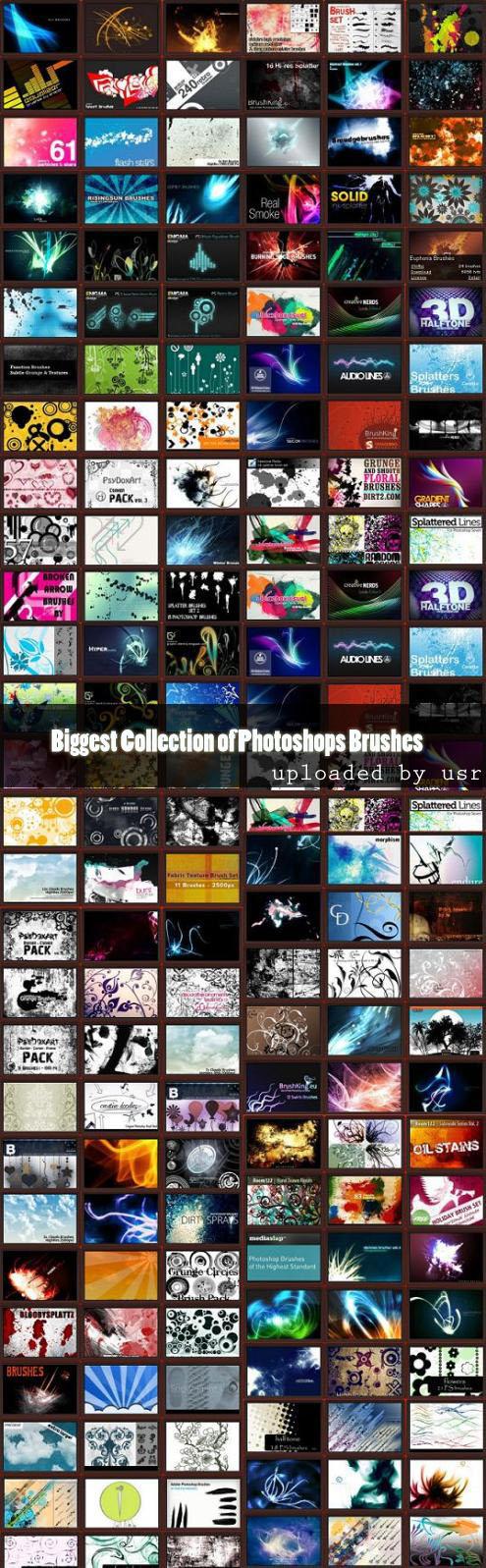 Maior coleção de Brushes Hugcollection