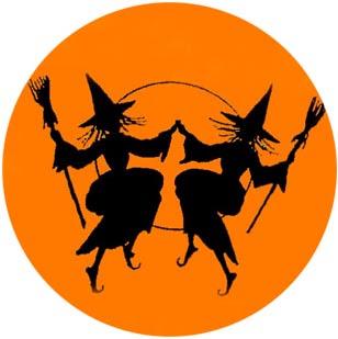Хелоуин/Самхейн/Сауин - възникване, обичаи. Halloween-Witch-Party-Background