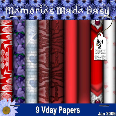 Valentine's Backgrounds Set 2 - By: Memories Made Easy MME_VdayPaperSet2_PREVIEW