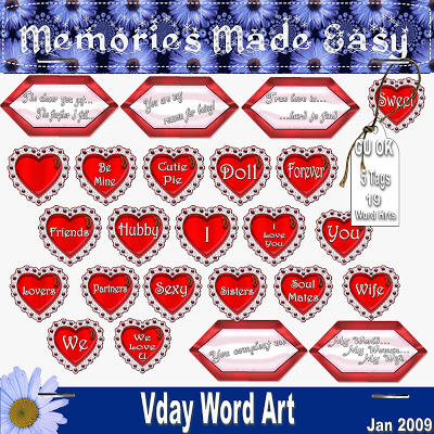 Valentine Word Art - By: Memories Made Easy MME_Vday_WordArt_PREVIEW