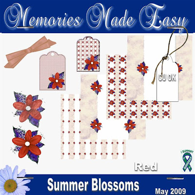 Summer Blossoms - Red Mini Kit - (CU OK) MME_SummerBlossomsRed_PREVIEW
