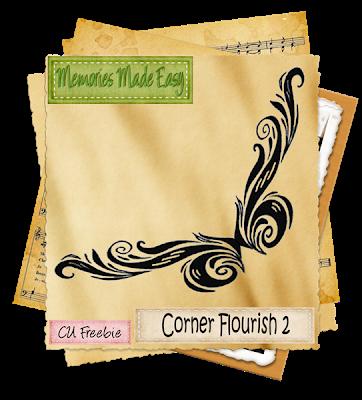 Corner Flourish 2 (memories Made Easy) MME_CornerFlourish2_Preview