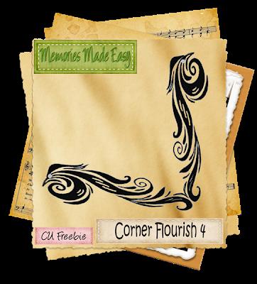 Corner Flourish 4 (memories Made Easy) MME_CornerFlourish4_Preview