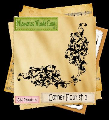 Corner Flourish (memories Made Easy) MME_CornerFlourish_Preview