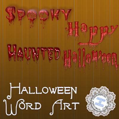 Bloody Word Art HalloweenWordArt_Preview
