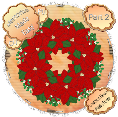 Christmas Wreath / Frame #2 XmasFlowerRed-Wreath-02_Preview