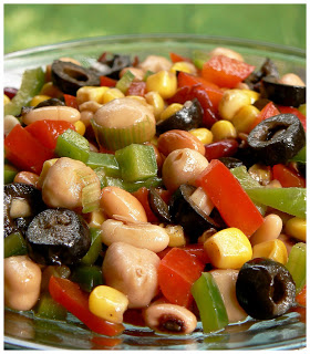 Salade mexicaine de légumineuse P1380655