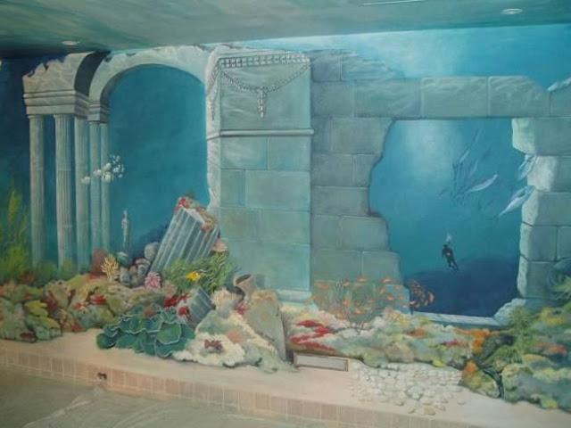 لوحات جدارية ابداعية Wall-drawings16