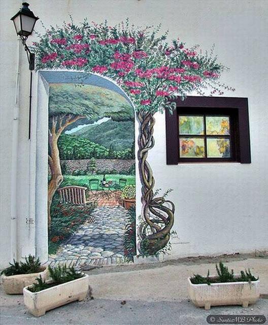 لوحات جدارية ابداعية Wall-drawings32