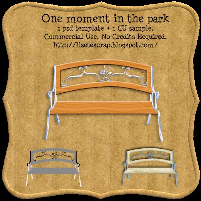 Park Bench By: Liset@Scrap Lisetescrap_momentintheparkfreebieCU