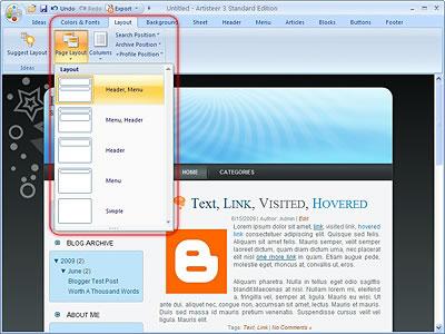 Aplikasi untuk membuat Template  Blogger_ss2