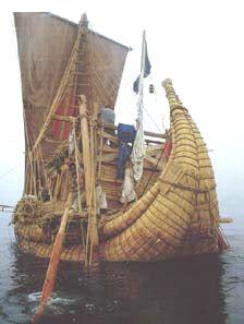 Colón descubrió América, pero no fue el primero en llegar Ra_2_reed_boat_thor_heyerdahl