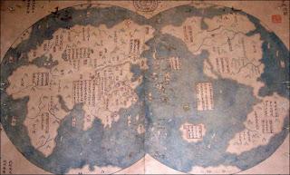 ¿Fue Colón realmente el primero en descubrir América? Zheng_He_map