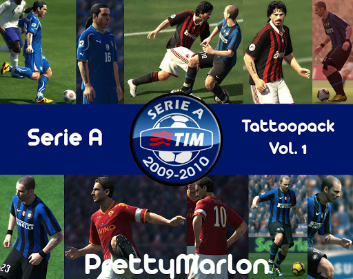 Pes 2010 - Serie A Tattoo Pack Vol.1 Preview