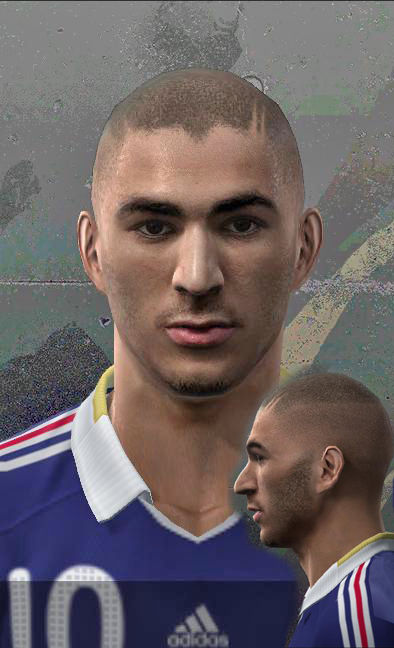 Pes 2010 - Benzema Face Preview