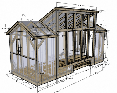 Plans d'architecture 3D / Sketchup free-ware TinyHouse