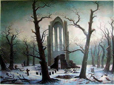 Immagini da Paura *-* Friedrich_Cloister_Cemetery_in_the_Snow_1817-19