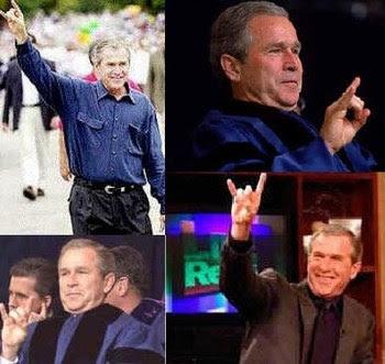 NWO a Satanic Cult Bush_satan_worship