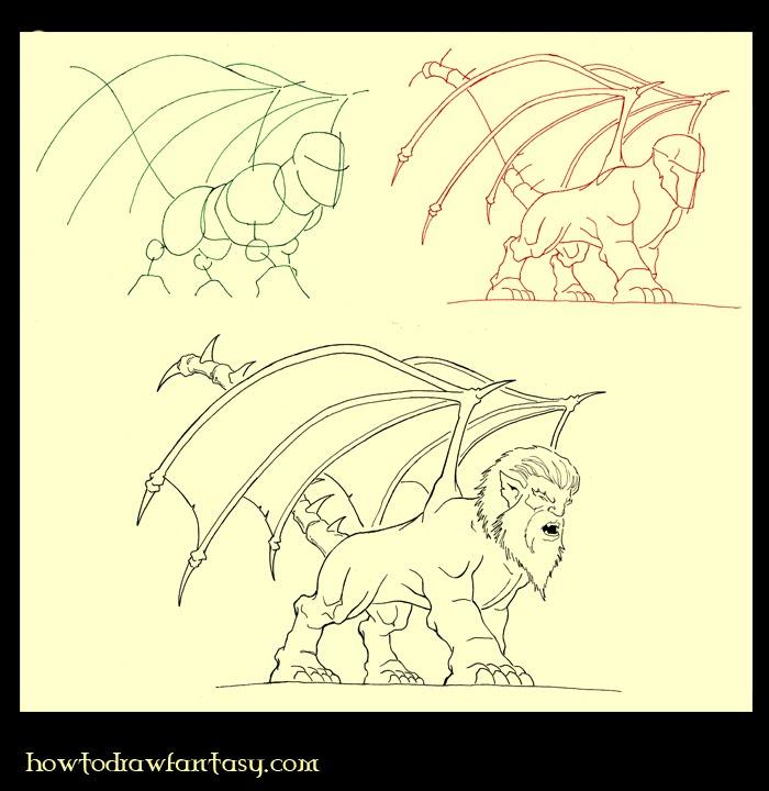Le site dont VOUS êtes le dessinateur... Comment-dessiner-une-manticore