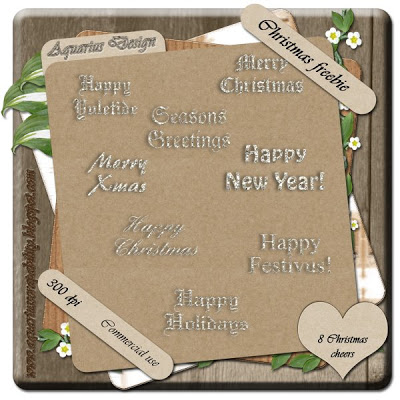 Silver Shining Christmas Words - By: Aquarius Scrapability AD-Preview-Christmas