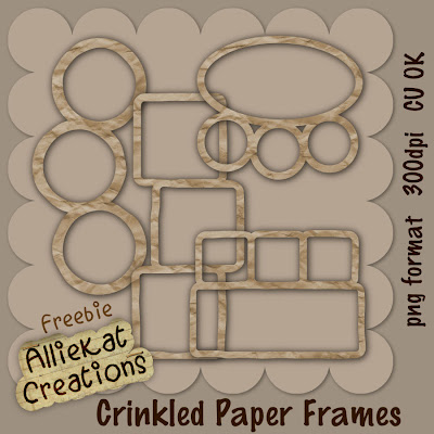 Crinkled Paper Frames by Penny AKC_Crinkled_frame_preview