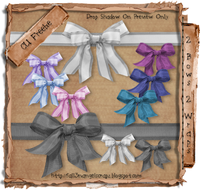 2 Bows & 2 Wraps - By: Fall3n Angel Scrapz Preview