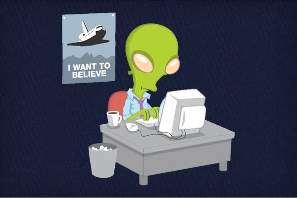 Fox Mulder - The X-files  I-Want-To-Believe-the-Alien-Version_4733-l