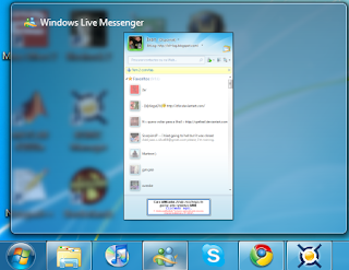 Como remover a dupla janela do Windows Live Messenger na Taskbar do Windows 7 Msn4