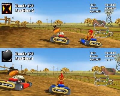 لعبة سباق الدجاج Moorhuhn Kart2 29
