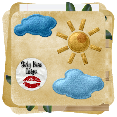 Felt Sun and Clouds (Sticky Kisses Designes) NFN_Preview
