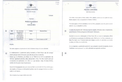 Gaspar Statements cover letter from Leicester police VOLUME%2BXIII%2Bpag%2B19e20_Page_1