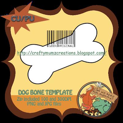 Dog Bone Template ( Craftymumz Creations) CWKHM_CUdogbonetempprev_RSW