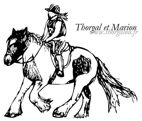 Peinture de Thorgalou à l'acrylique Thorgal-marion