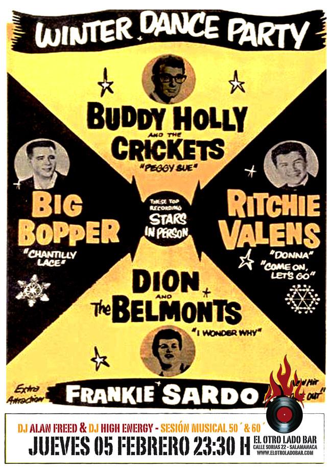 Buddy Holly ha muerto. Cartel