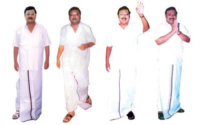 அழகிரி சத்யமூர்த்திபவன் செல்ல, 4 செட் வேட்டி-சட்டை ஆர்டர்! (கிழியுமுங்க) Alagiri