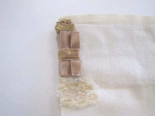 Браслет-манжета из ткани, лент и кружев IMG_8377