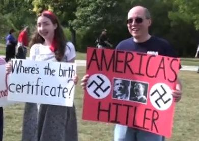 "Occupy Boston Protester ""Alan"" Certificate_Hitler"
