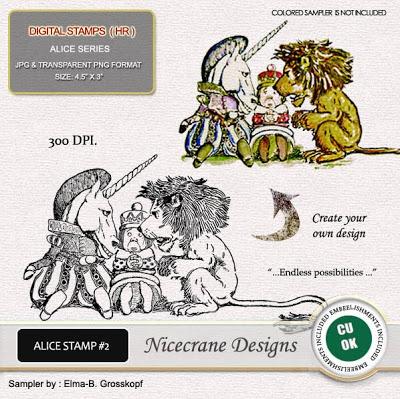 Alice In Wonderland & Vintage Children  Digital Stamps  Nic_AliceStamp2Prev