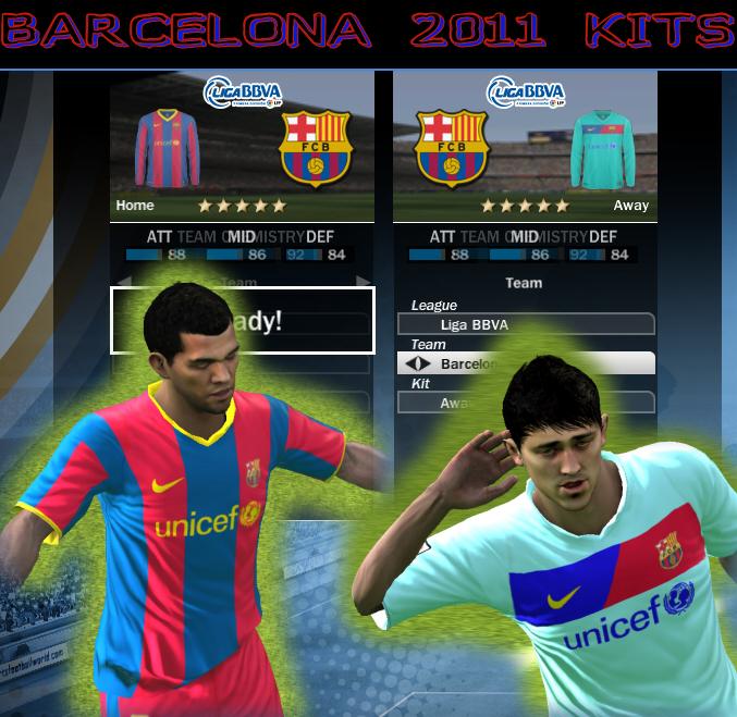 Kits 2011 para FIFA 10 Barcelona2011