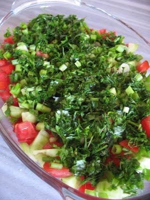 Fırında Köfteli Patates Salata