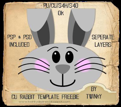 CU Rabbit Template (Twinky) RabbitTemplatePreview