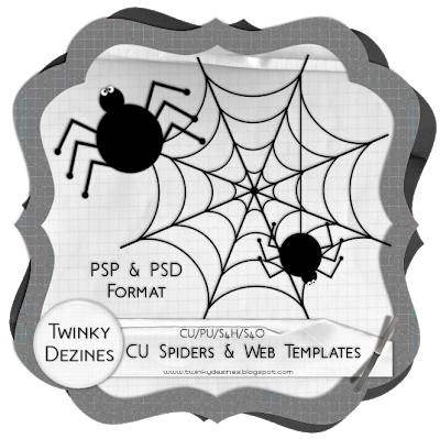 CU Spider & Web Template Freebie by Twinky Spiders_WebPreview