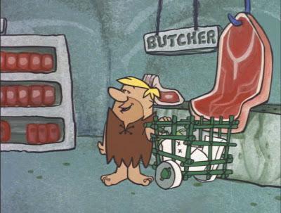 Mulheres e carrinhos de supermercado Flintstonesupermarket04meat