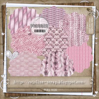 Freebie - Pink Textures - CU4CU 8 Papiers texturés Cajoline_pinktextures_preview