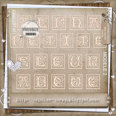 Vintage Ornate Alpha Cajoline_petitefleur2_alphabet_preview