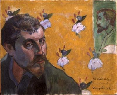 Autoportrait, image de l'intérieur Selfportraitwithbernardbygauguin