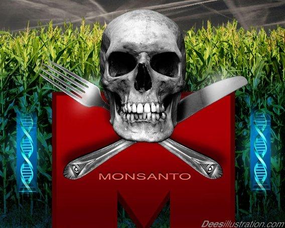 Programme criminel de dépopulation mondiale Monsanskull_dees
