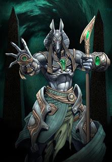 atake de espadashines Anubis